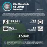 Ülke Genelinde Yapılan Kış Lastiği Kullanımı Denetimlerinde 17 Bin 439 Trafik Kural İhlali Tespit Edildi