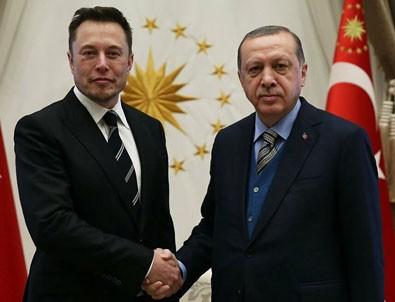 Başkan Erdoğan Elon Musk'la görüştü!