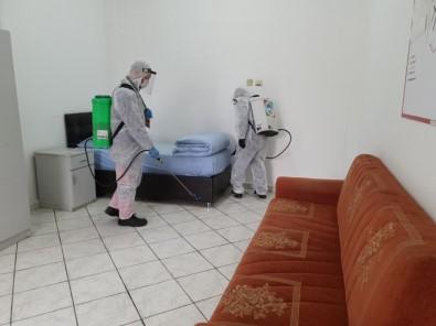 Melikgazi'de 25 Araç, 50 Personel İle Dezenfekte Çalışmaları Devam Ediyor