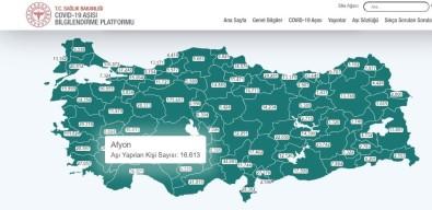 Afyonkarahisar'da Covit-19 Aşısı Yapılan Kişi Sayısı 16 Bin 613'U Ulaştı