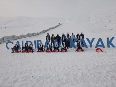 Çaldıran Termal Kayak Merkezine Hafta İçi Yoğun İlgi