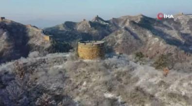 Çin Seddine Kar Yağdı