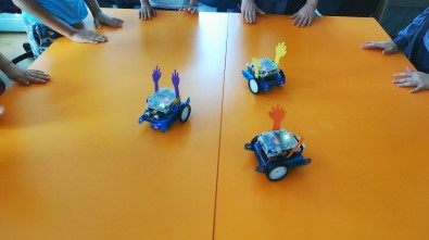 Çocukların 'Erik Dalı' Oynayan Robotlarına Büyük İlgi