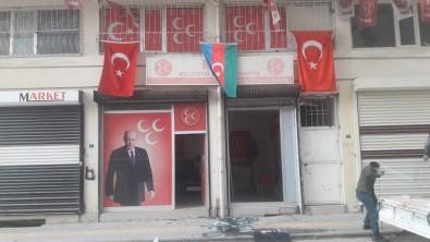 MHP Bismil İlçe Başkanlığına Saldırı Açıklaması Camları Kırıp Kayıplara Karıştılar