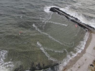 Yeşilköy Sahilinde Sörf Keyfi Havadan Görüntülendi