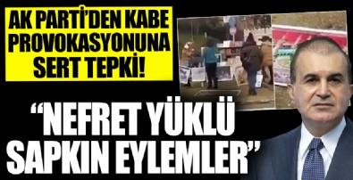 AK Parti Sözcüsü Ömer Çelik'ten Boğaziçi Üniversitesi önünde Kabe fotoğrafının yere serilmesine sert tepki!