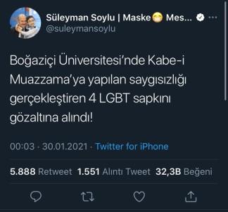 Boğaziçi Üniversitesi Önünde Kabe Fotoğrafının Yere Serilmesi Soruşturmasında 4 Gözaltı