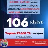 Karabük'te 80 Saatlik Kısıtlamayı İhlal Eden 106 Kişiye 97 Bin 650 TL Ceza Kesildi