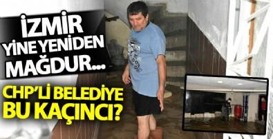 İzmir'de yağış sonrası evler yinei su bastı! Vatandaşlar CHP'li belediyeye isyan etti