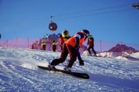 Snowboard İl Birinciliği Nefes Kesti