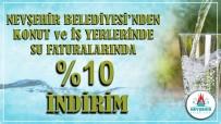 Nevşehir Belediyesinden Su Faturalarına Yüzde 10 İndirim