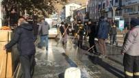 Bayburt'ta Covid- 19 Tedbirleri Kapsamında Cadde Ve Sokaklarda Temizlik Devam Ediyor