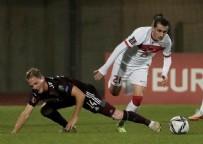 Türkiye Letonya maçında ilk yarı bitti!