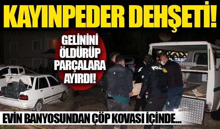 Tekirdağ'da kayınpeder dehşeti: Gelinini öldürüp parçalara ayırdı!