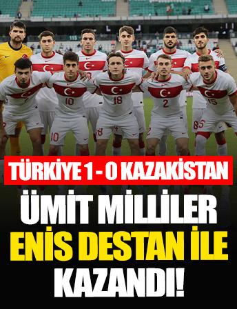 Ümit Milliler Enis Destan ile güldü   Türkiye 1 - 0 Kazakistan maç sonucu