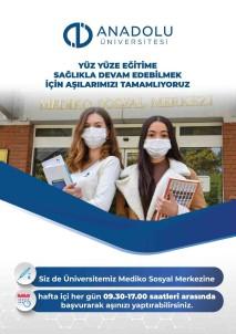 Anadolu Üniversitesi Mediko Sosyal Merkezi'nde 'Covid-19 Asi Birimi' Olusturuldu