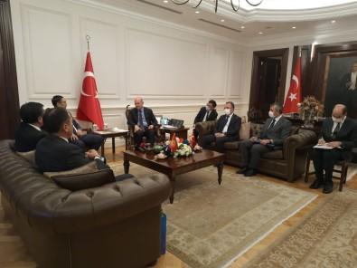 Bakan Soylu, Kirgizistan Acil Durumlar Bakani Boobek Azikeev'i Kabul Etti