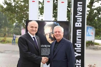 Baskan Özlü, Aziz Yildirim'i Agirladi