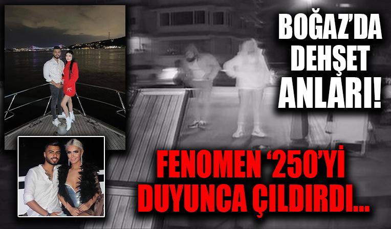 Boğaz'da dehşet anları! Sosyal medya fenomeni Baran Taşkut fiyatı çok buldu çalışanları dövdü