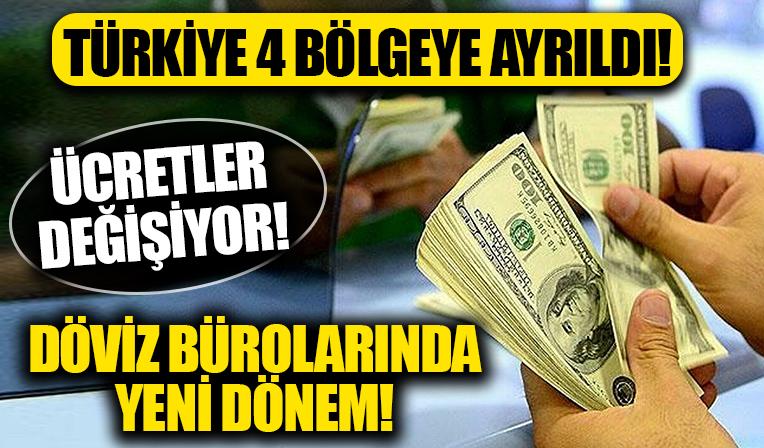 Döviz bürolarında yeni dönem: Türkiye'de dört faaliyet bölgesi belirlendi