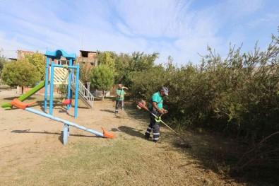 Efeler Belediyesi Kent Genelinde Yesil Alan Bakim Çalismalarini Sürdürüyor