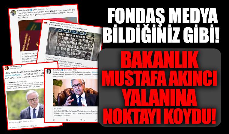 Fondaş medyanın, 'Türkiye'ye girişi yasaklı 42 Kıbrıslı: Mustafa Akıncı da listede' haberi yalan çıktı