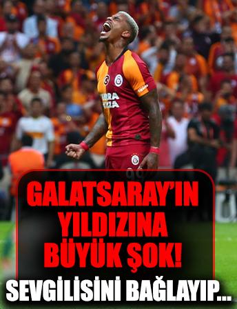 Galatasaray'ın yıldızına büyük şok! Sevgilisini bağlayıp...