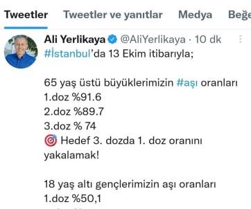 Istanbul Valisi Yerlikaya Asilamadaki Son Durumu Açikladi