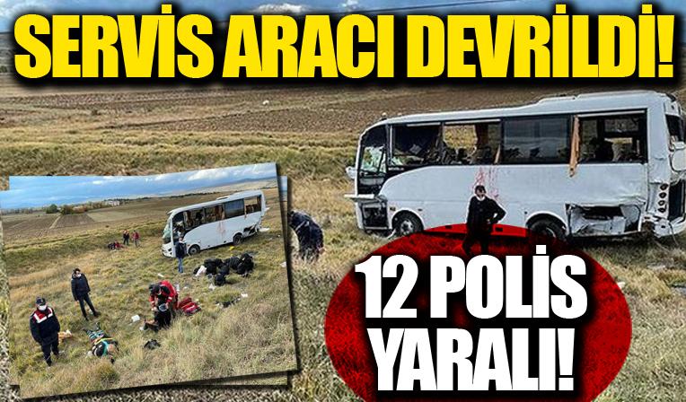 Kastamonu'da polis servisi devrildi: Yaralılar var