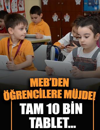 Milli Eğitim Bakanlığı ve Türk Telekom'dan ortak proje! Öğrencilere 10 bin tablet dağıtılacak