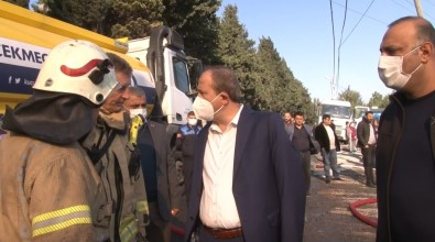 Avcilar Belediye Baskani Hançerli, Yanginin Ardindan Olay Yerinde Incelemelerde Bulundu