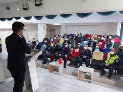 Suhut'ta Okul Servis Ve Ticari Araç Soförlerine Egitim Semineri