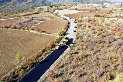 Üzümlü'de Grup Köy Yollari Kis Öncesi Asfaltlaniyor