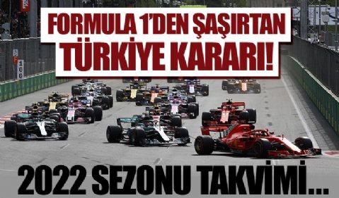Formula 1'den şaşırtan Türkiye kararı! 2022 sezonu takvimi açıklandı...