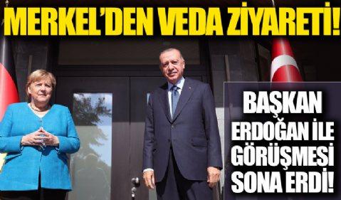 Angela Merkel'den veda ziyareti!  Başkan Erdoğan ile görüşmesi sona erdi!