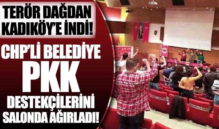 CHP'li belediyeden terör destekçisi SGDF'ye ücretsiz salon! Terör dağdan Kadıköy'e indi