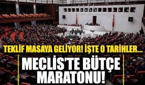 Meclis'te bütçe maratonu! 2022 yılı Bütçe Kanunu Teklifi masaya geliyor