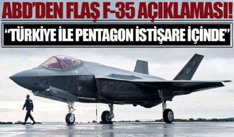 ABD'den F-35 açıklaması: Pentagon ile Türkiye istişare yürütüyor
