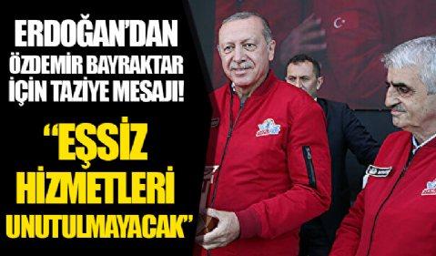 Cumhurbaşkanı Erdoğan'dan Özdemir Bayraktar için taziye mesajı: Eşsiz hizmetleri unutulmayacak