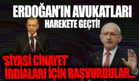 Cumhurbaşkanı Erdoğan'ın avukatları 'siyasi cinayet iddiaları'na ilişkin Ankara Cumhuriyet Başsavcılığına başvuruda bulundu