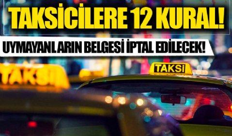 İçişleri Bakanlığı'ndan taksicilere 12 kural hatırlatması: 81 ilin valiliğine gönderildi