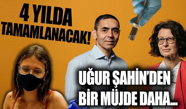Uğur Şahin ve Özlem Türeci'den bir müjde daha: 4 yılda tamamlanacak...