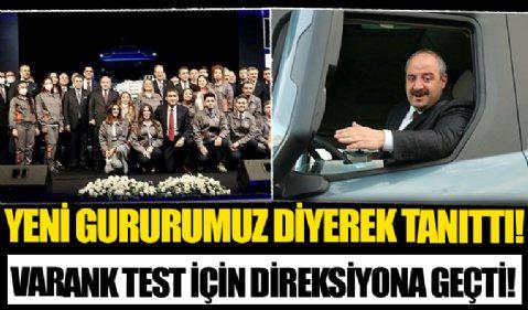 Bakan Varank, Türkiye'nin ilk ve tek yerli şanzımanlı kamyonunu test etti