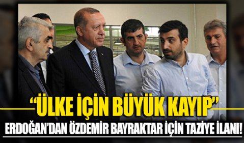 Erdoğan'dan, Özdemir Bayraktar için taziye ilanı: Ailesi için olduğu kadar ülke için de büyük bir kayıp oldu