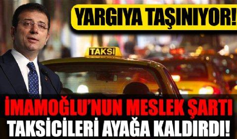 İBB'nin taksi plakası tahsisine ilişkin yeni uygulamasını taksici temsilcileri yargıya taşıyacak