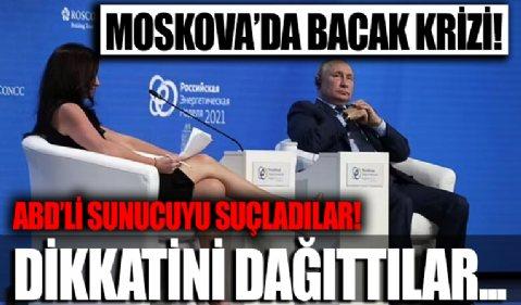 Rusya'da gündem bacaklarını Putin'e uzatan ABD'li sunucu! Sunucuyu suçlu buldular...