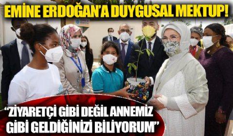 Togolu kız öğrenciden Emine Erdoğan'a duygusal mektup