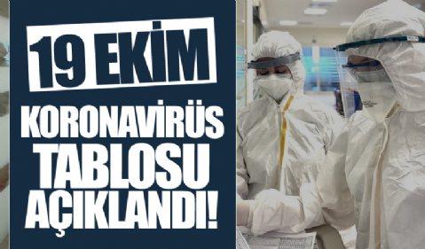 19 Ekim koronavirüs verileri açıklandı! İşte Kovid-19 hasta, vaka ve vefat sayılarında son durum...