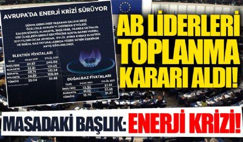 AB liderleri yarın bir araya gelecek: Gündem artan enerji fiyatları