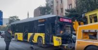 Bayrampaşa'da İETT otobüsüyle otomobil çarpıştı! 7 yaralı var